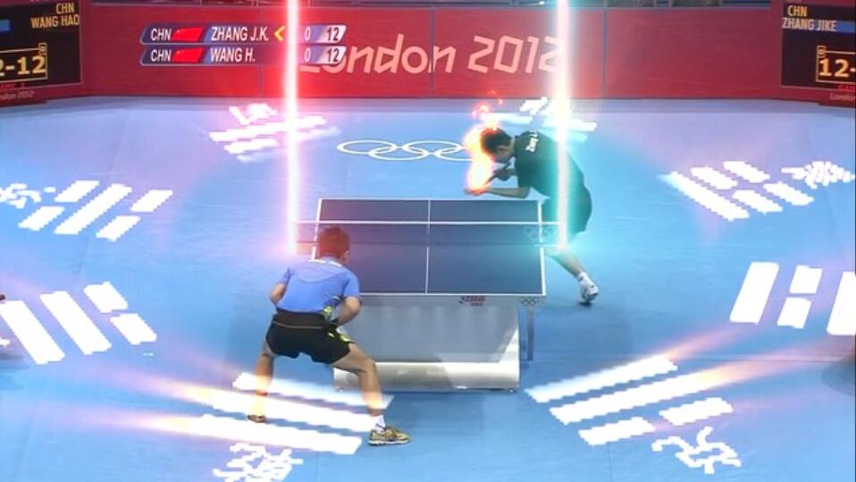 【A等生】【全民】张继科VS王皓,给乒乓球比赛加上特效后简直神仙打架!