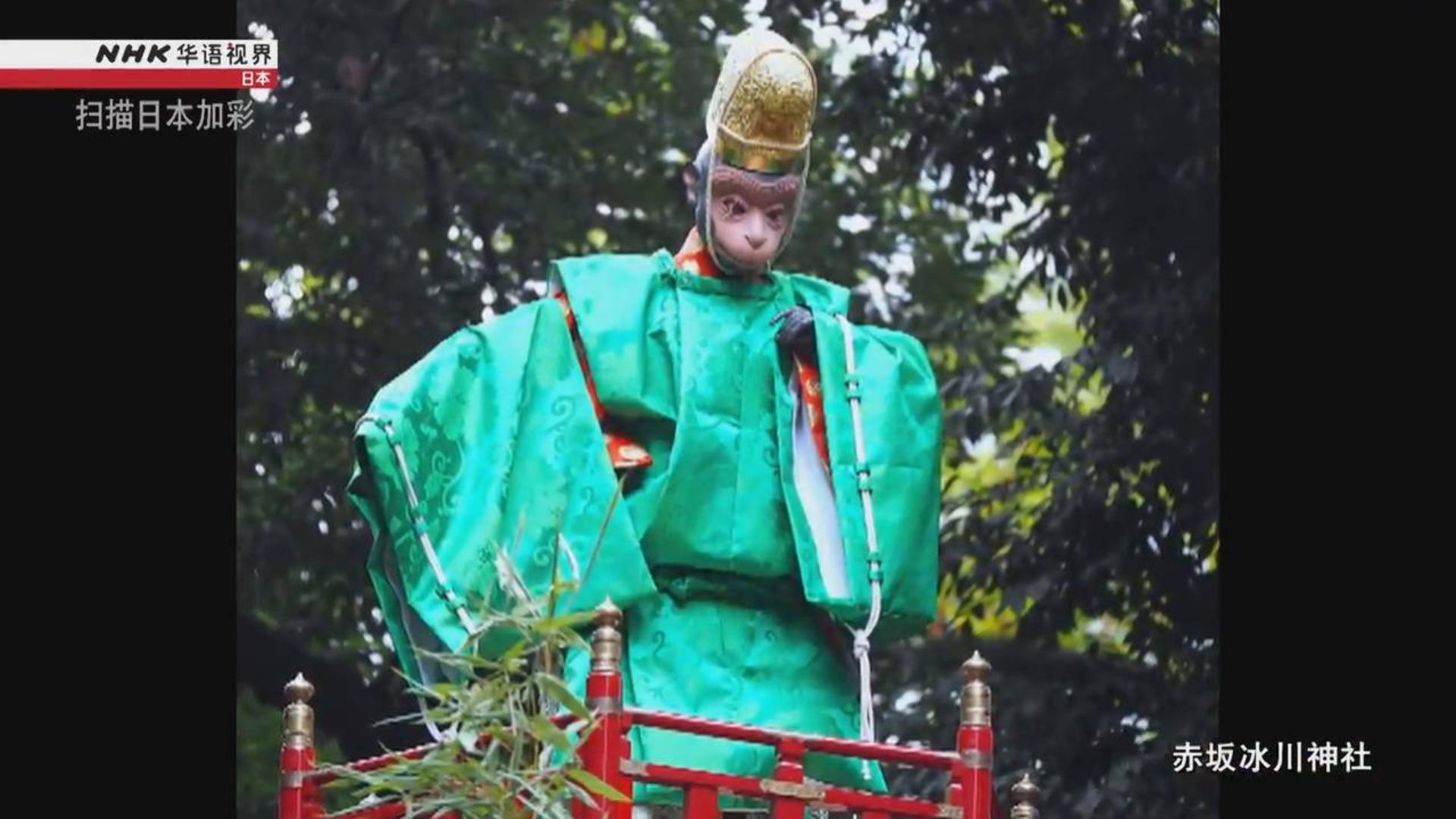 日本猕猴神.扫描日本加彩