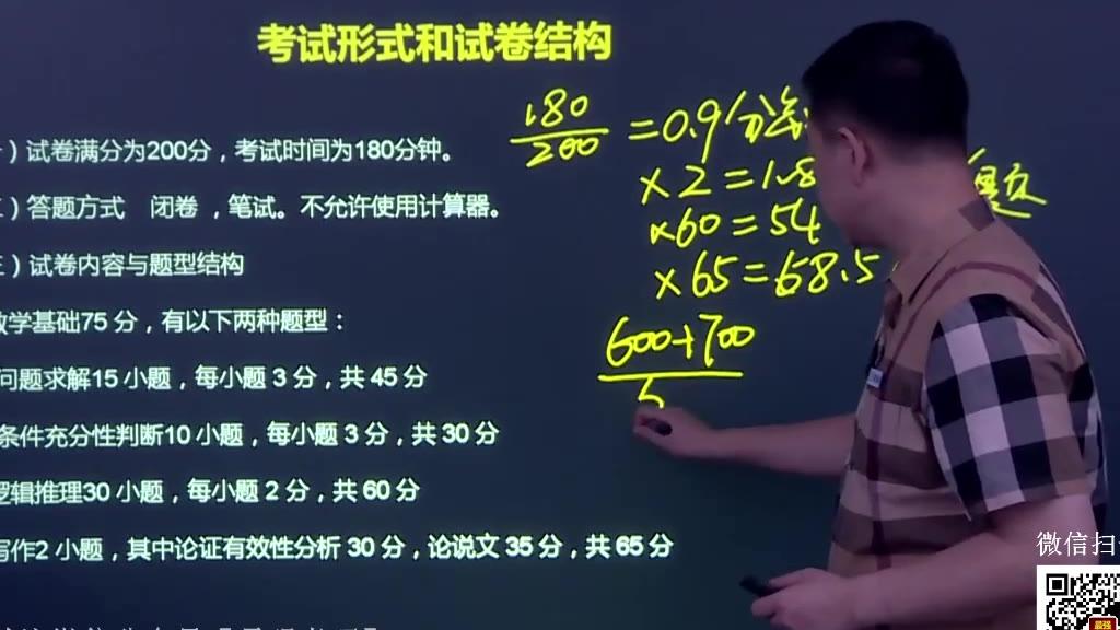 2021考研经济类联考数学逻辑写作导学课程