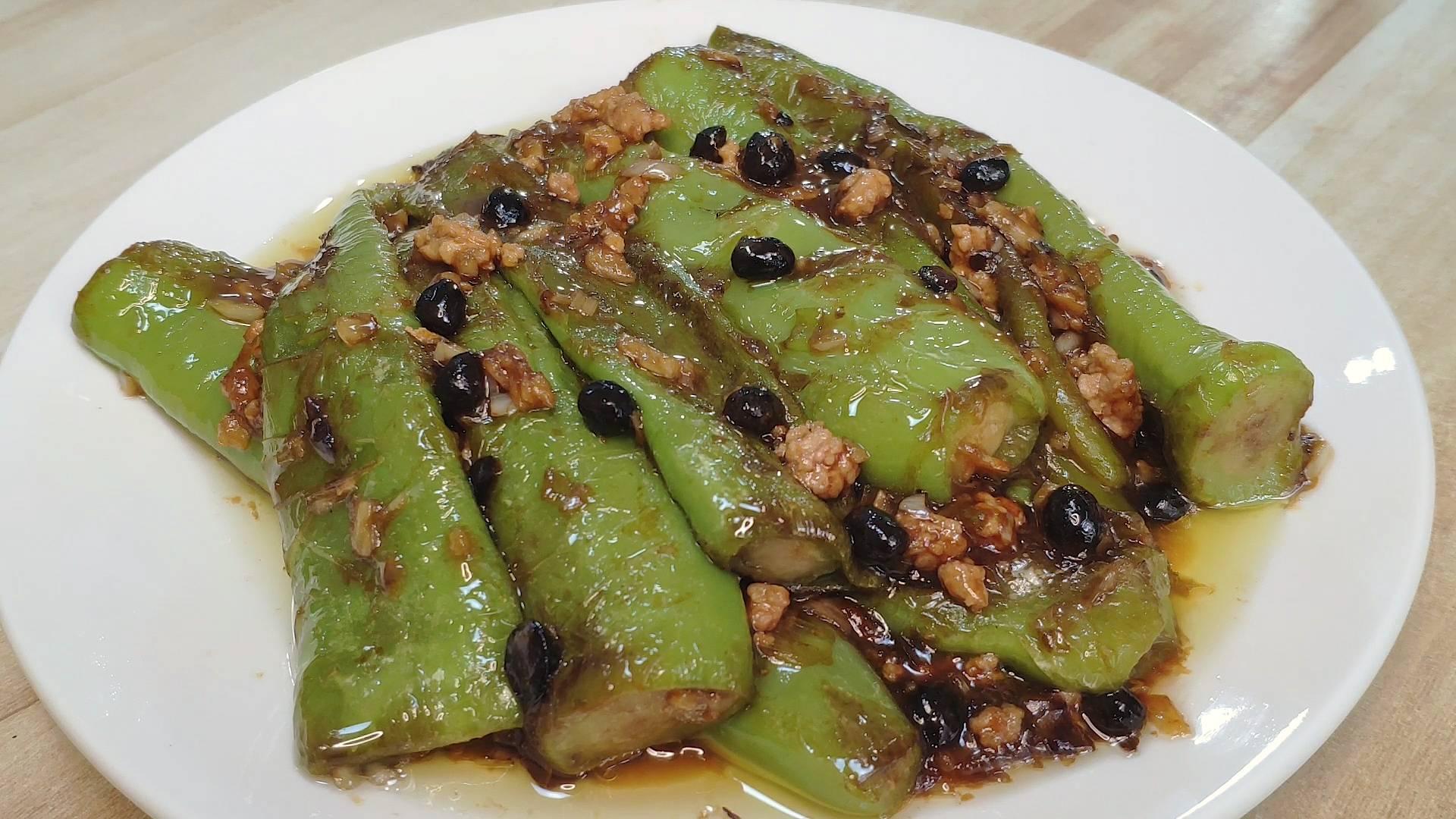 虎皮青椒的正确做法,简单方便,好吃下饭,一顿能多吃两碗饭