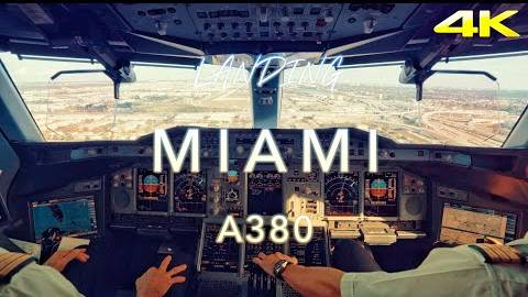 驾驶舱视角看A380降落迈阿密