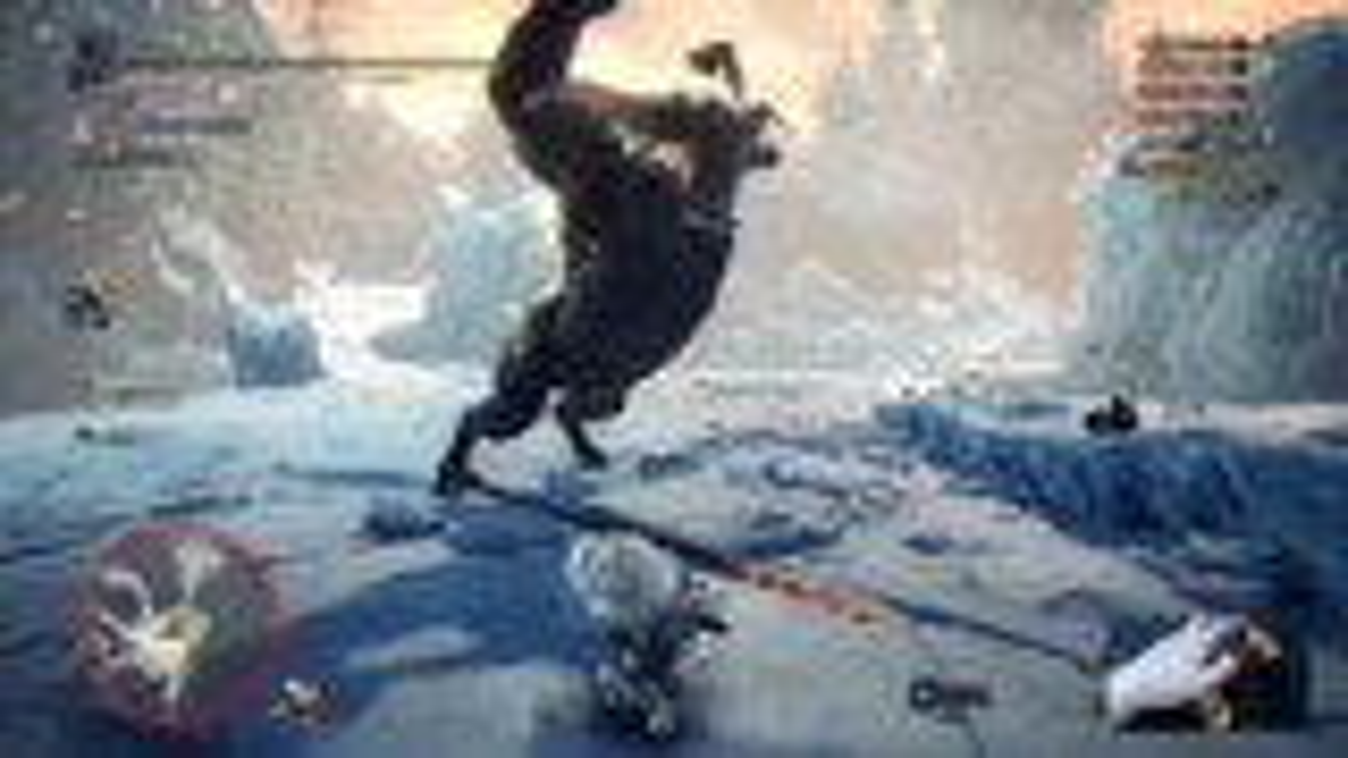 独臂玩家《怪物猎人:冰原》太刀初见击杀黄金罗刹