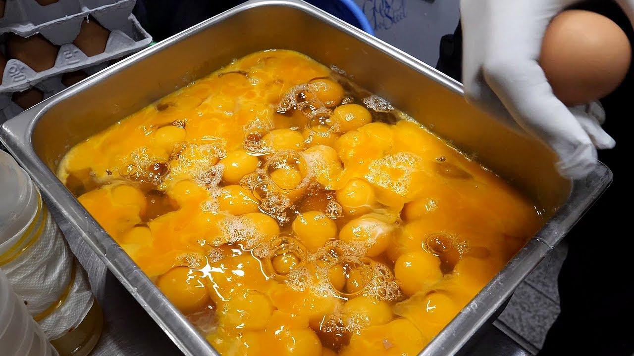 【韩国街边小吃】 - 培根鸡蛋卷-紫菜包饭