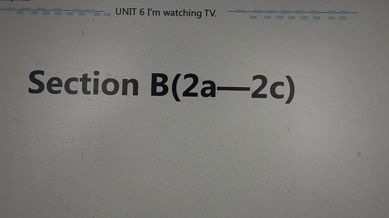 unit6 sectionB