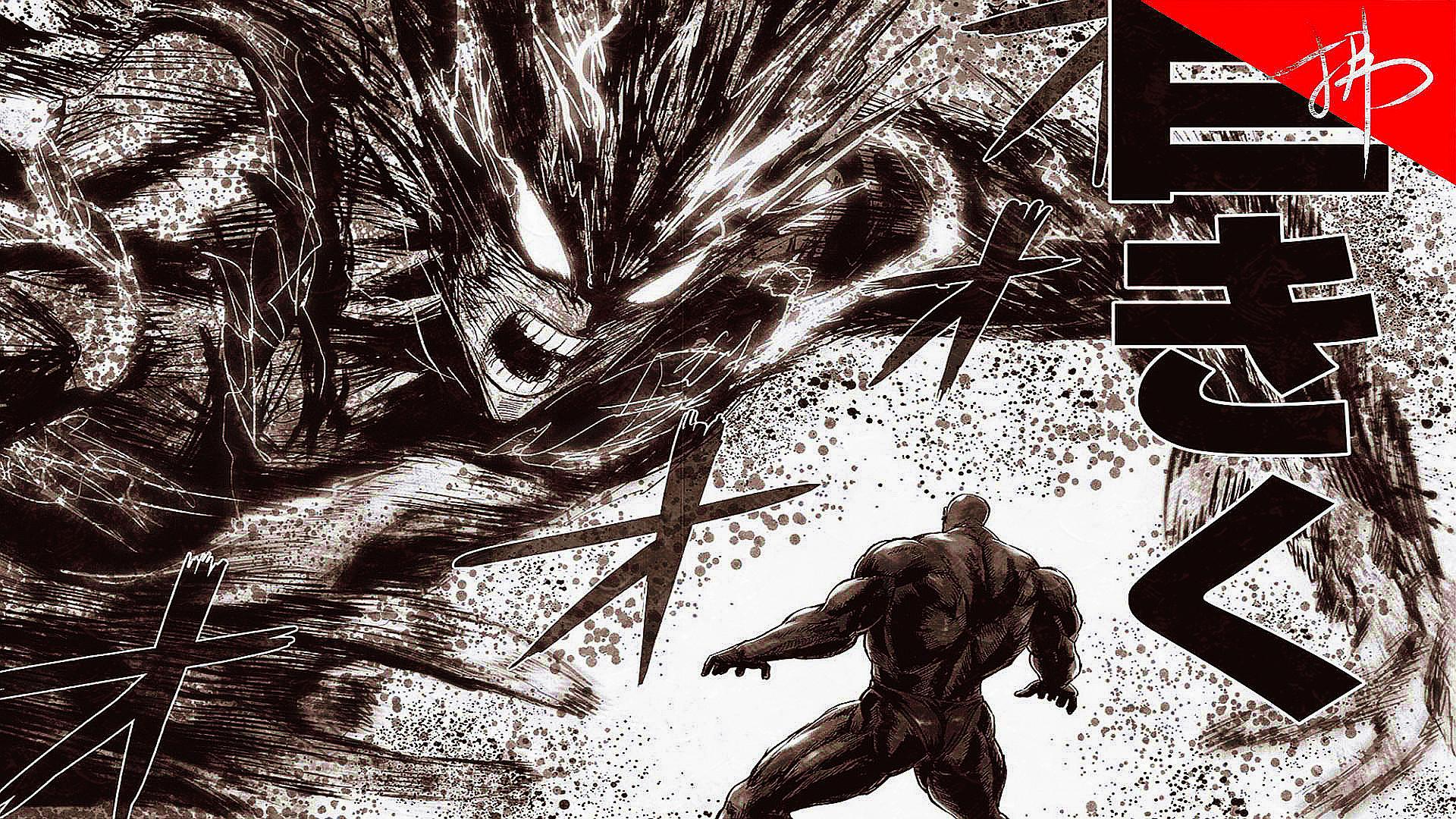 一拳超人172话 少年黑光登场,饿狼推倒黑光即将二次进化!