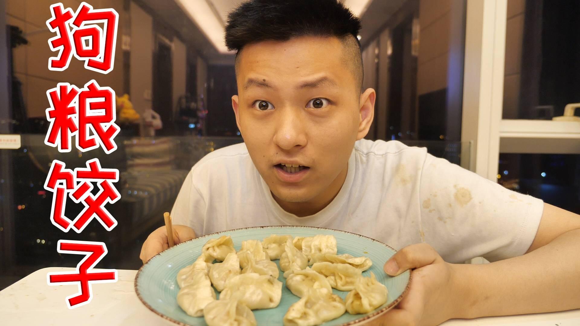 我不做人啦!试吃狗粮猫粮馅饺子,一口开启新世界!