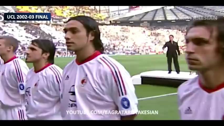 2003年,欧冠决赛,AC米兰vs尤文图斯,史诗级攻防。 