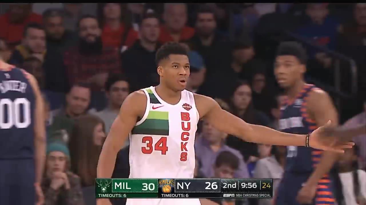 被隔扣了怎么办?字母哥狂砍30分14篮板带队复仇尼克斯