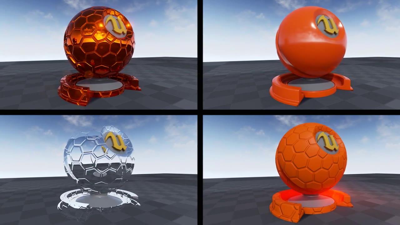UE4虚幻游戏引擎材质制作视频教程-16集(附视频、工程源文件下载)