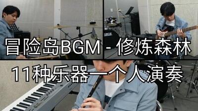 【冒险岛·BGM】 修炼森林 11种乐器一人演奏  Hoonjin PARK