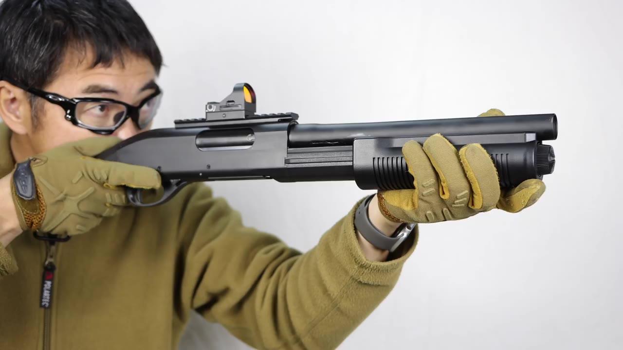 【日本壕界大叔】散弹枪M8703发同时发射马克堺气枪评论