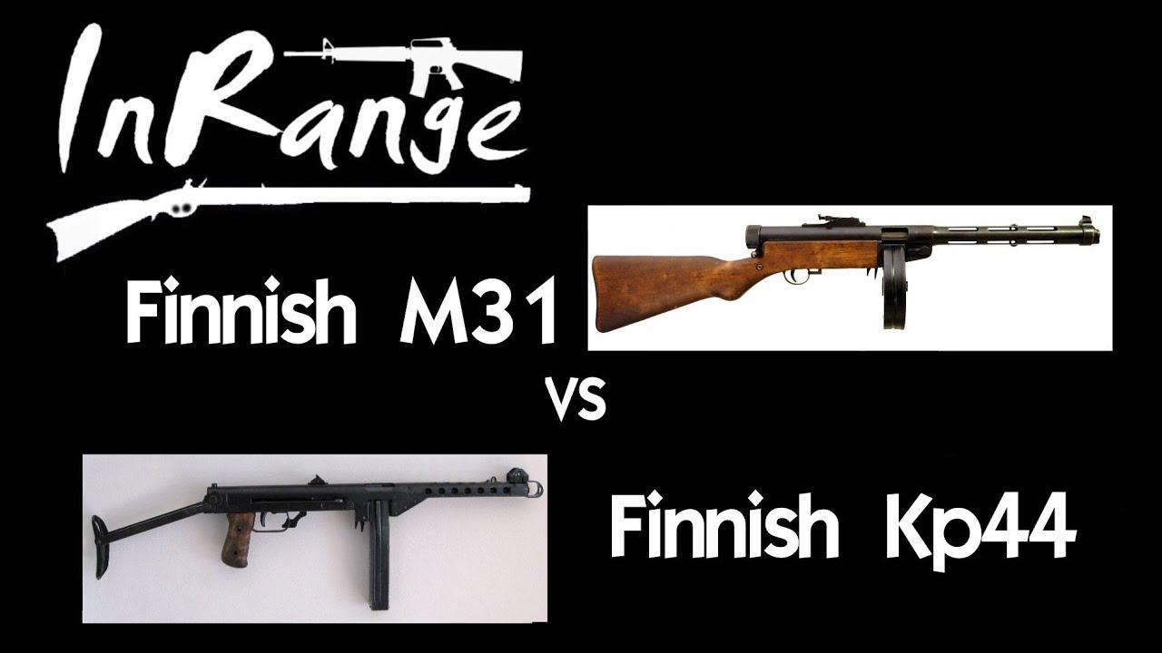 【InRangeTV/双语】芬兰索米M31/KP44冲锋枪实弹射击对比测试