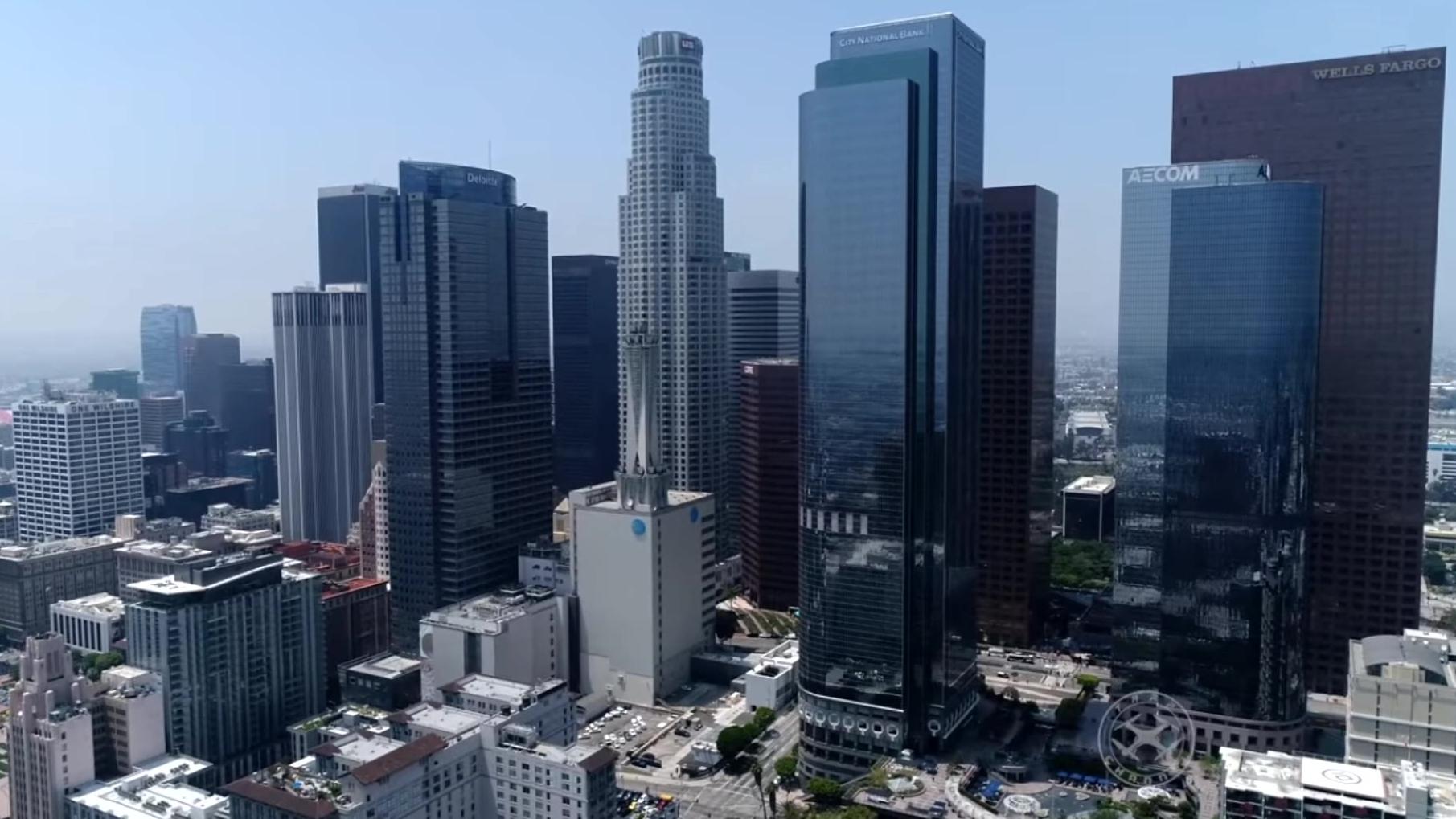 真实的洛圣都(洛杉矶)无人机航拍