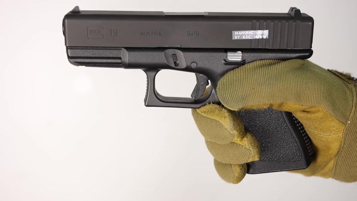 【日本壕界大叔】KSC Glock19滑动HW重型滑片的翻拍有趣的测评!