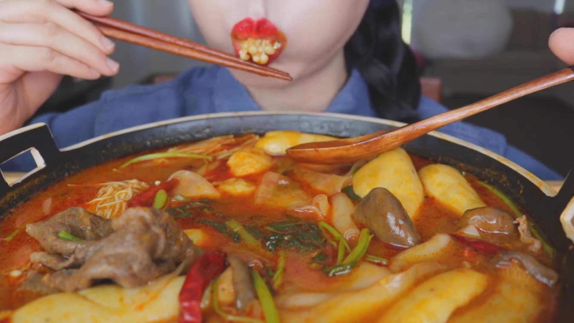 【Lychee】 麻辣烫牛肉宽粉香菇金针菇