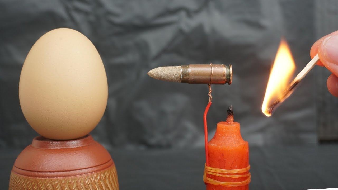 没有枪膛的子弹,能击穿鸡蛋么?