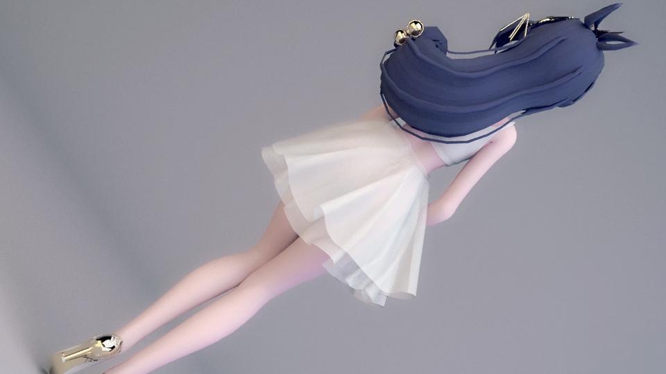 """""""纯洁的短裙,柔顺的头发""""!没错!是个小仙女。"""