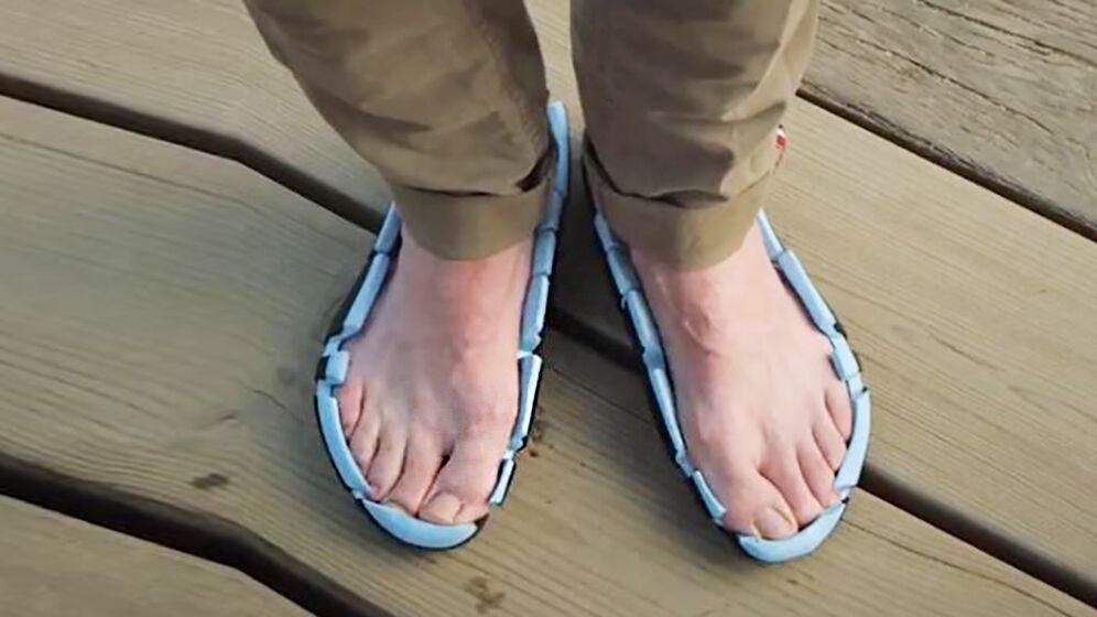 世界首款敞篷鞋,没有鞋帮跑步不会掉
