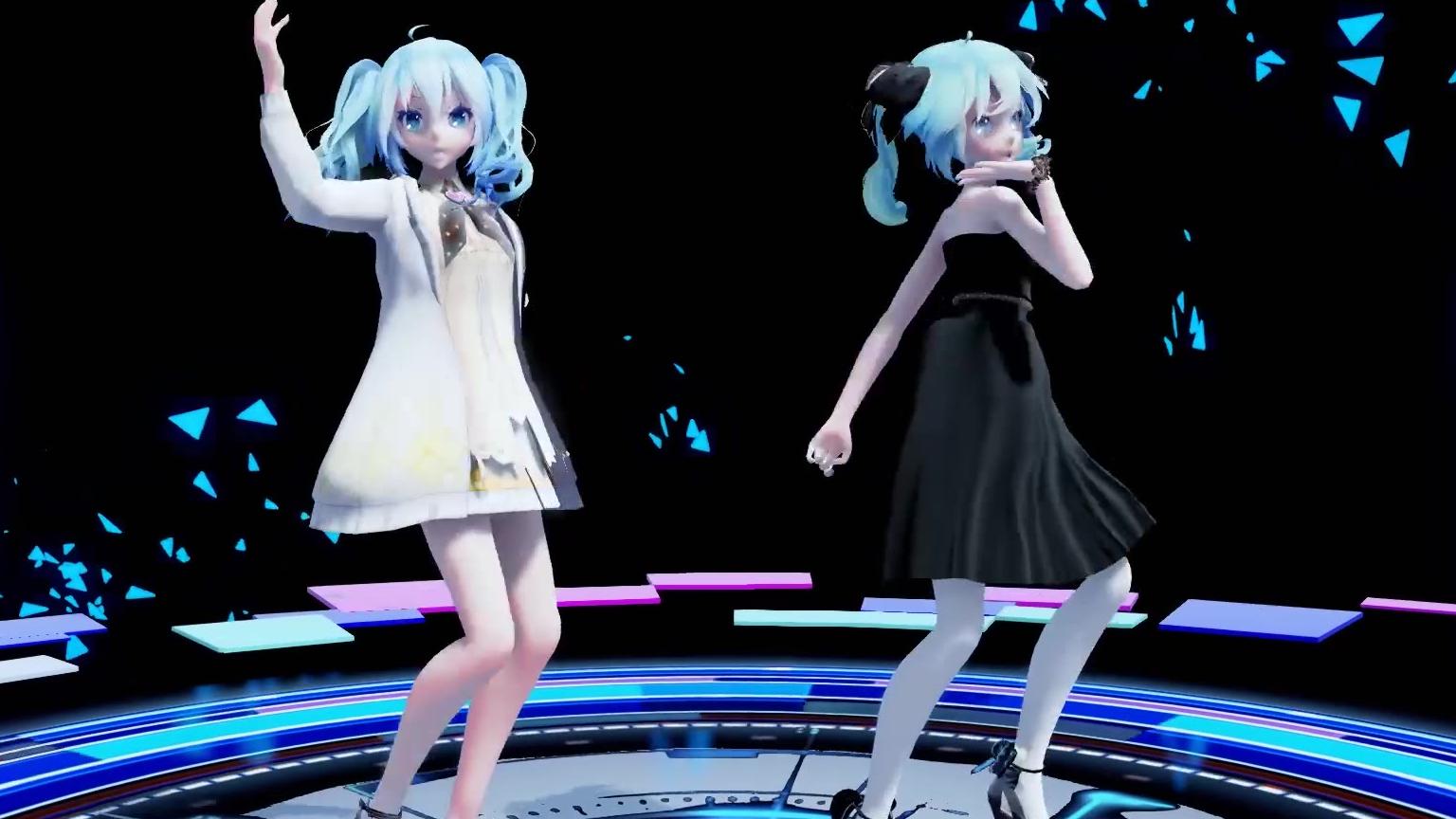 【MMD 初音未来】两位初音,双倍快乐 (TDA Miku)
