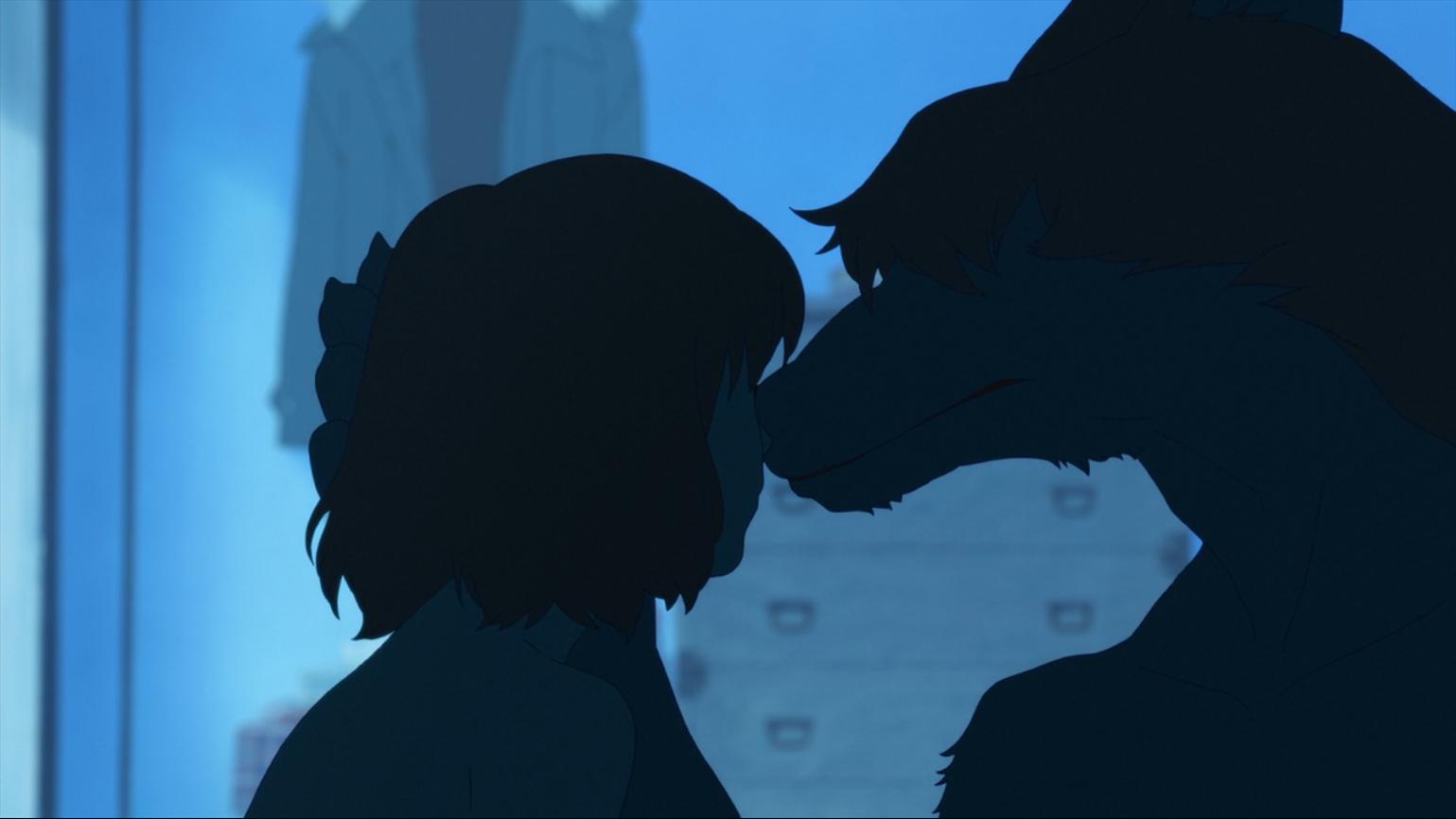 动画:人类女孩爱上一只狼,怀孕生下的孩子,是狼还是人呢?