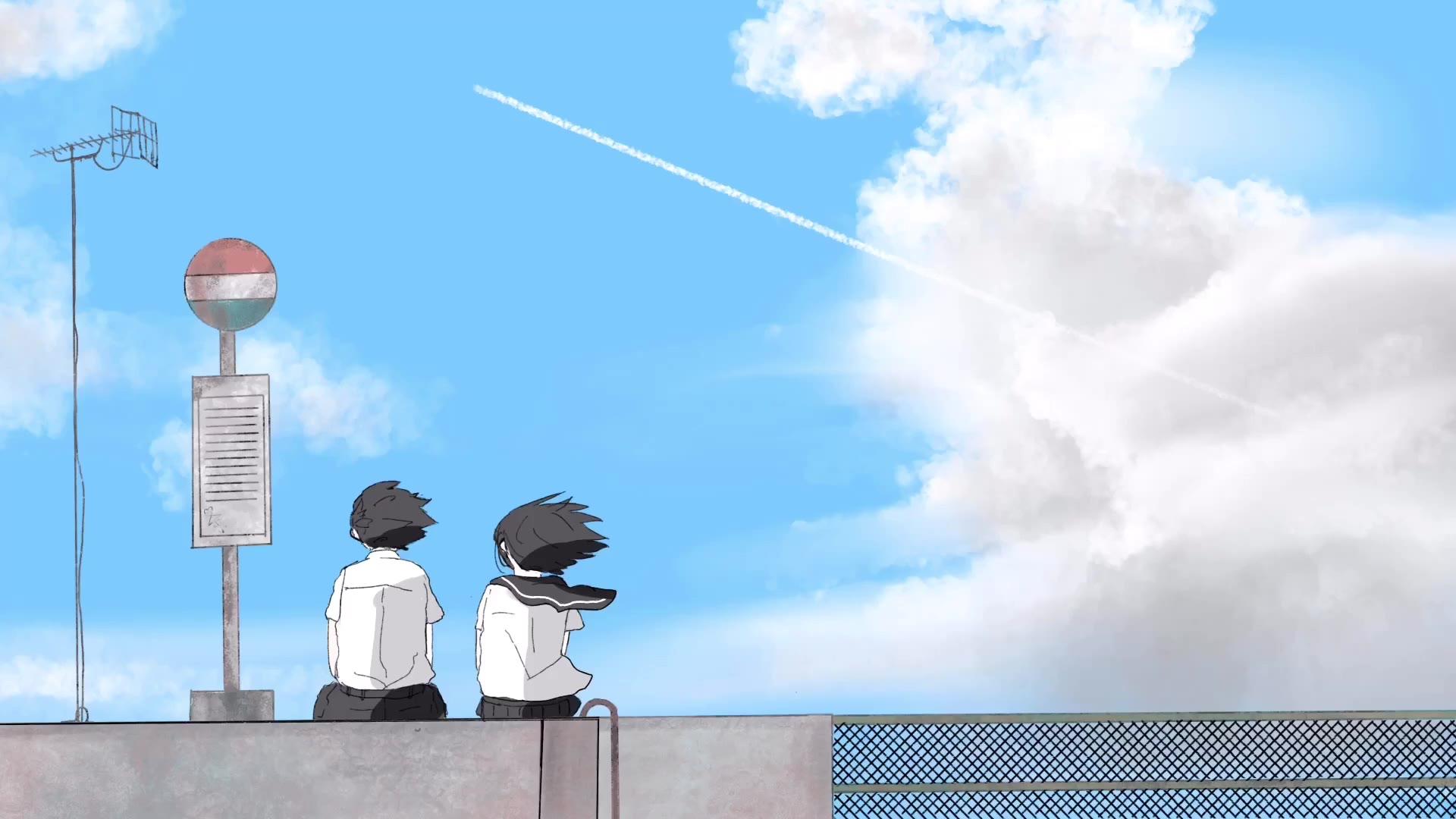 夏、飛行機雲バス停。/初音ミク 【オリジナル曲】