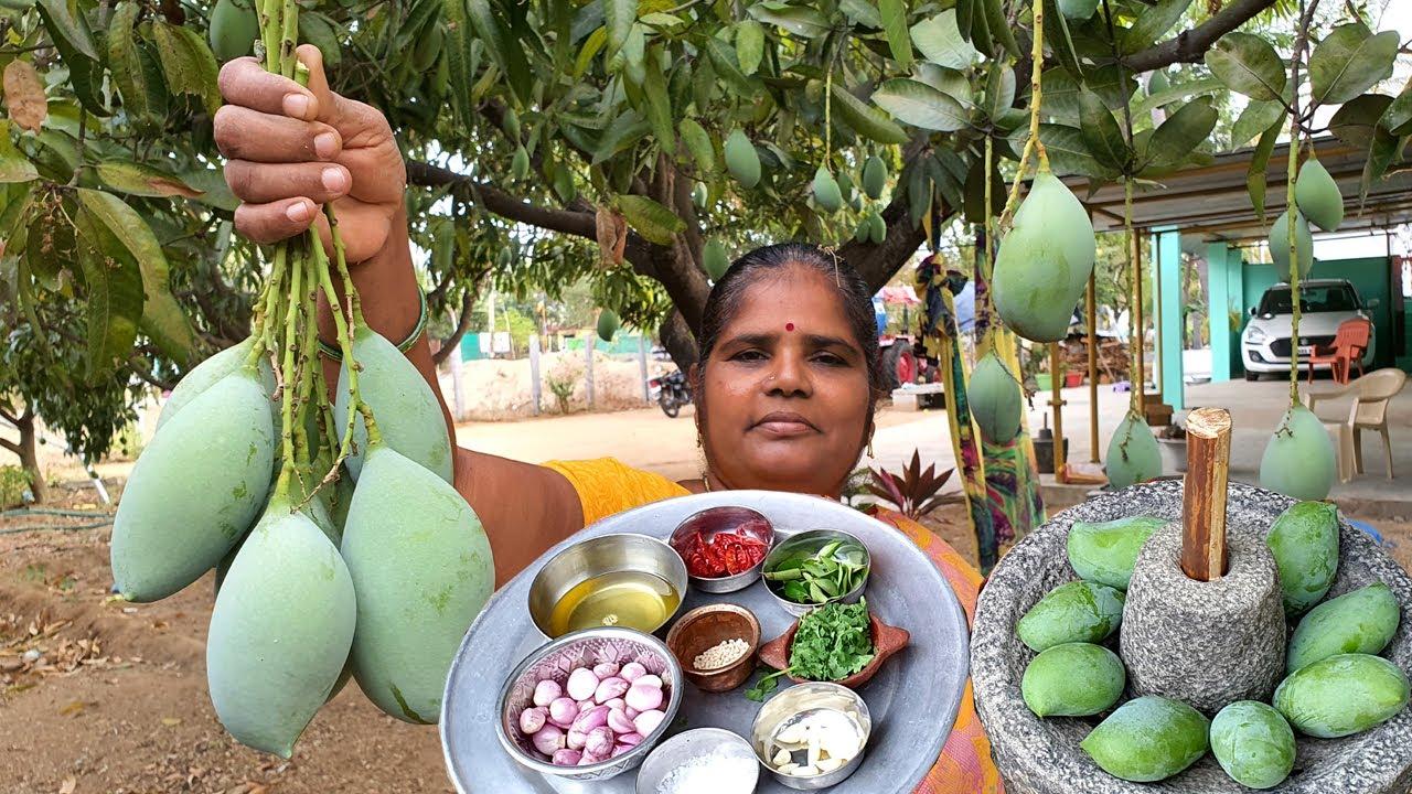 看看印度人是怎么吃生芒果的,看看她是什么吃法,太特别了!