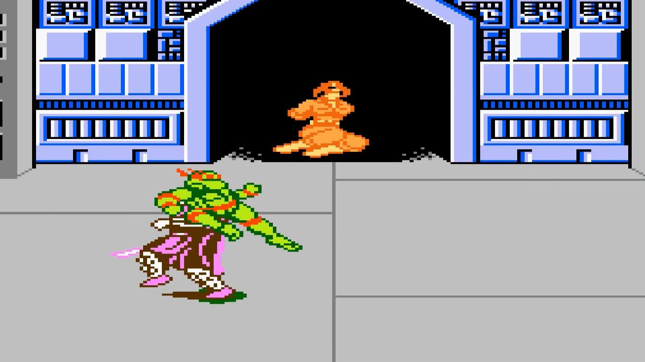 红白机游戏《忍者神龟3》第六关:施莱德,吃我香港脚