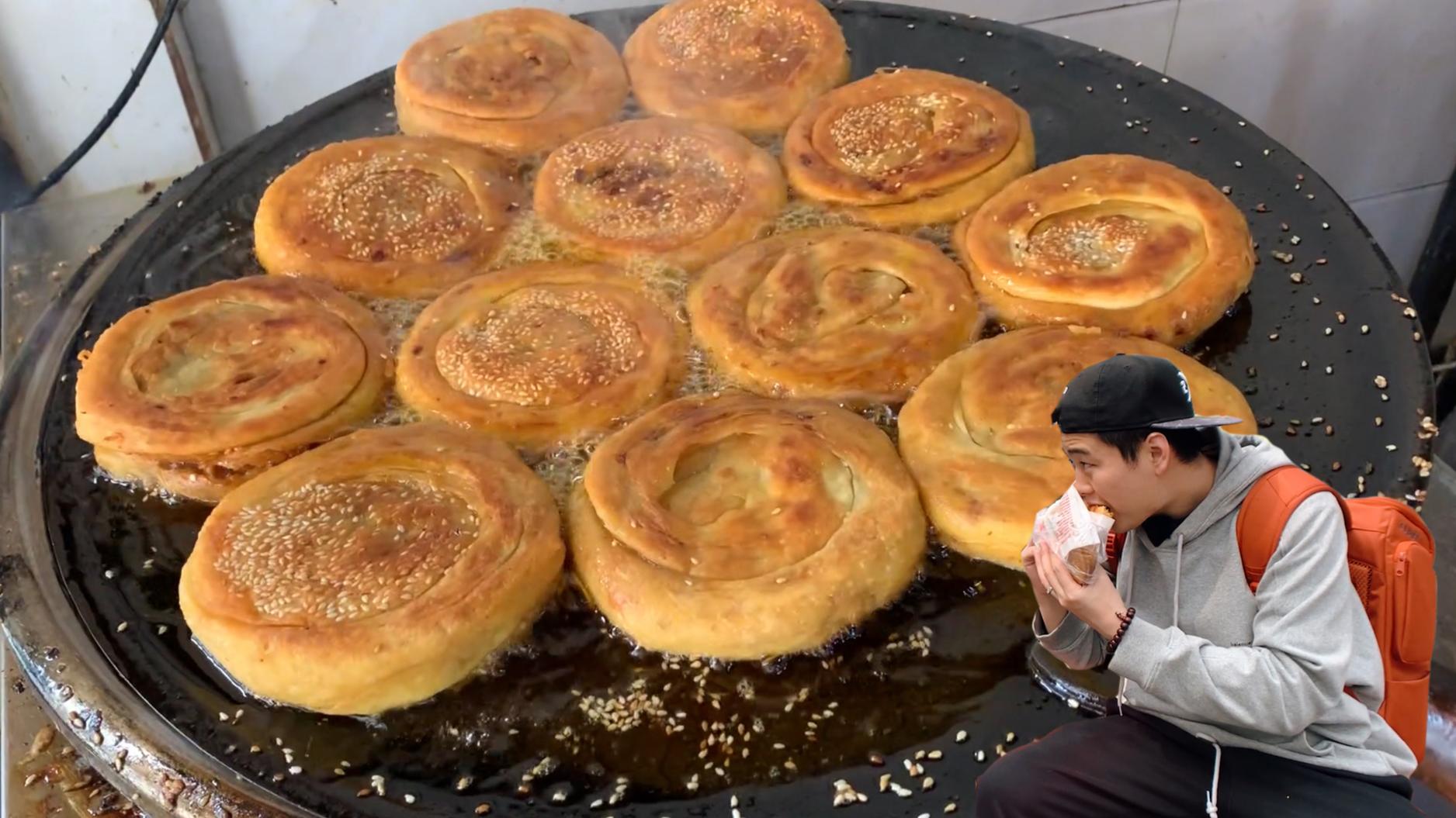 一天狂卖1000多个的肉饼,酥皮裹着大坨牛肉,咬一口酥香流油