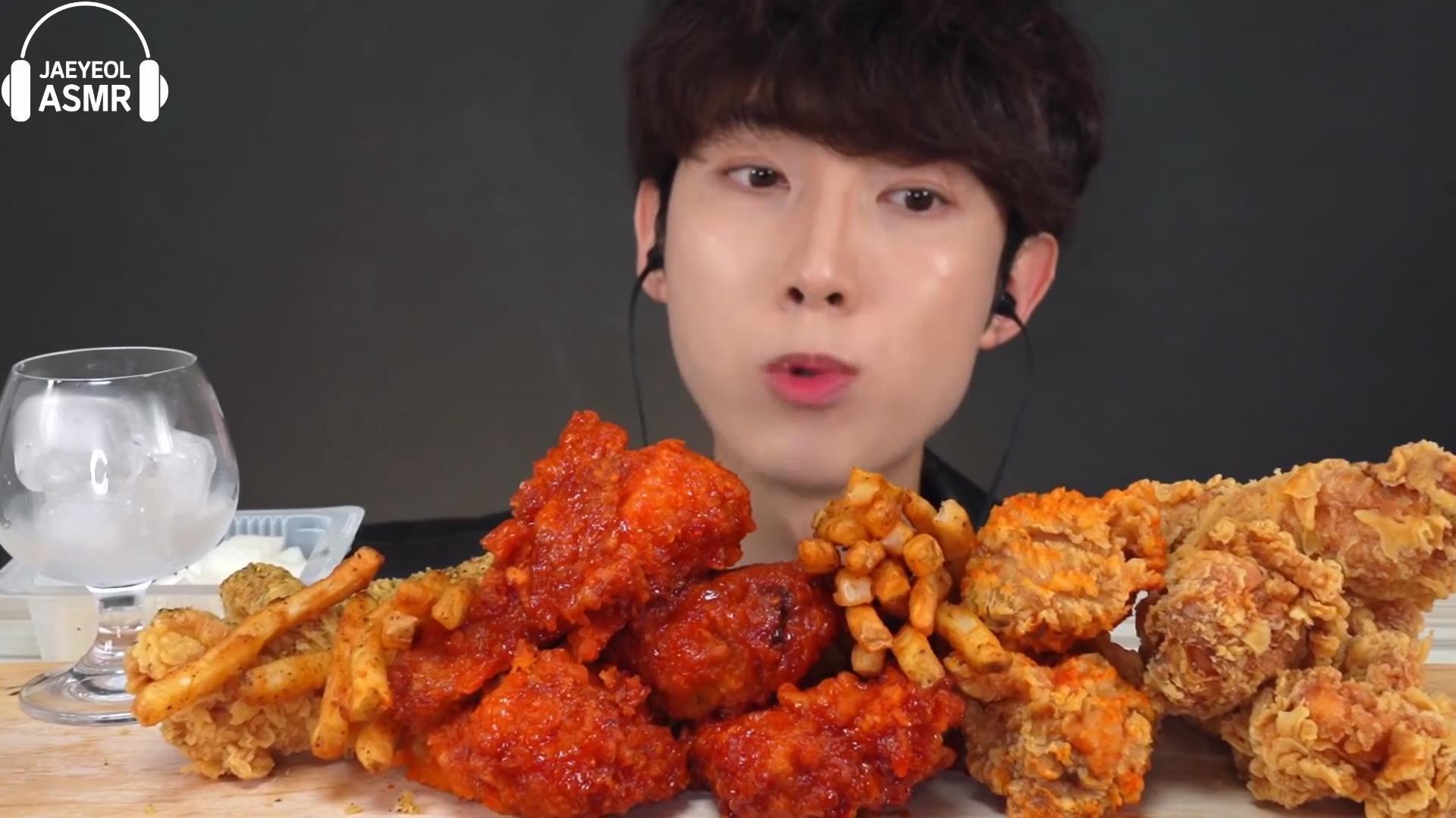 【Jaeyeol】 BBQ辣酱黑胡椒脆皮炸鸡薯条