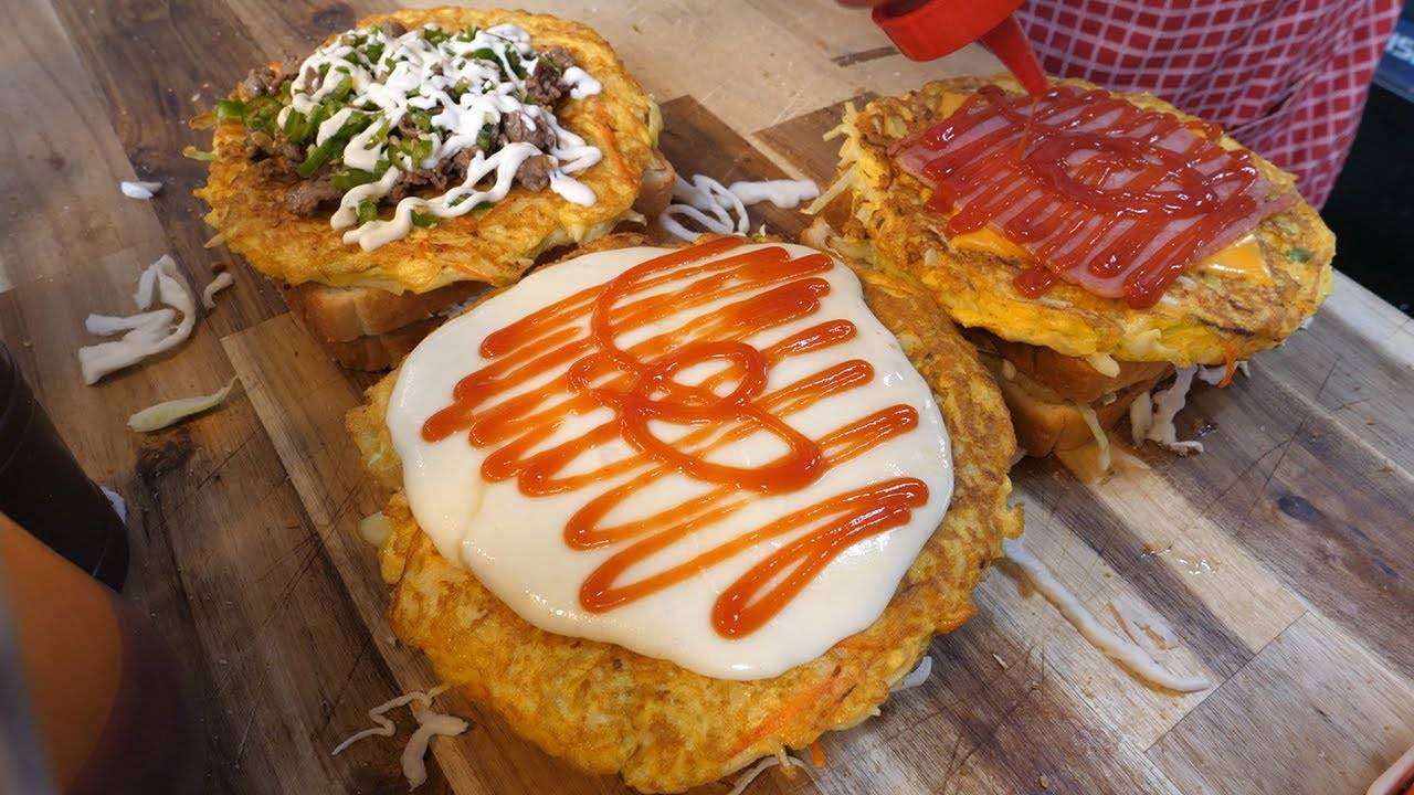 韩国最受欢迎的早餐摊鸡蛋吐司,有没有馋到你!