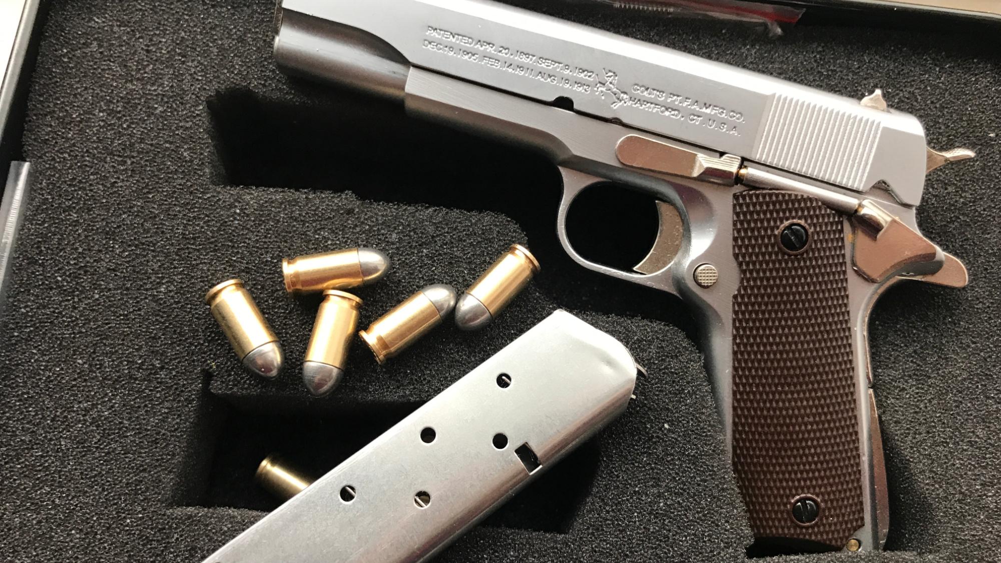 【红星劳保】有趣的柯尔特1911手枪微缩抛壳模型