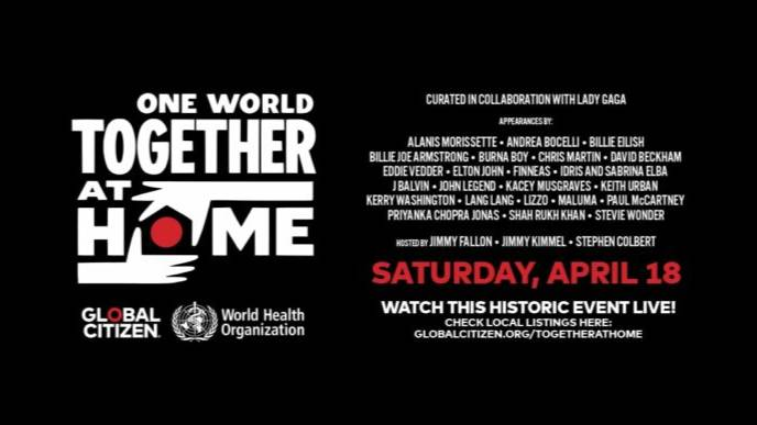 One World: Together At Home  ( 同一世界:团结在家 )