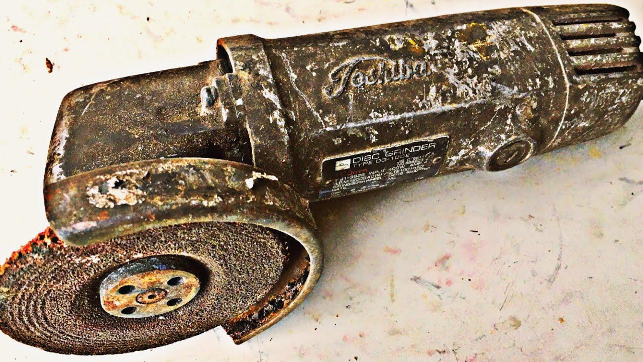 翻新修复一台东芝手持角磨机