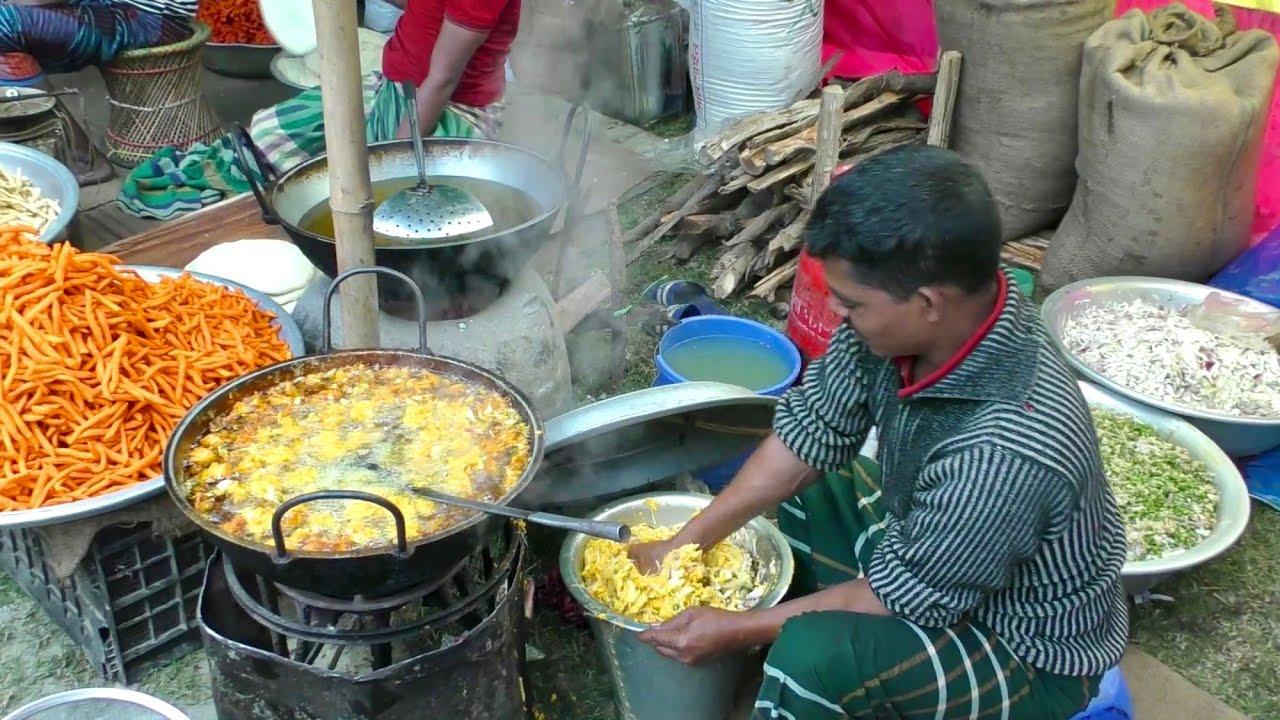 孟加拉街头的另类小吃,好不好吃不知道,不卫生是肯定的!