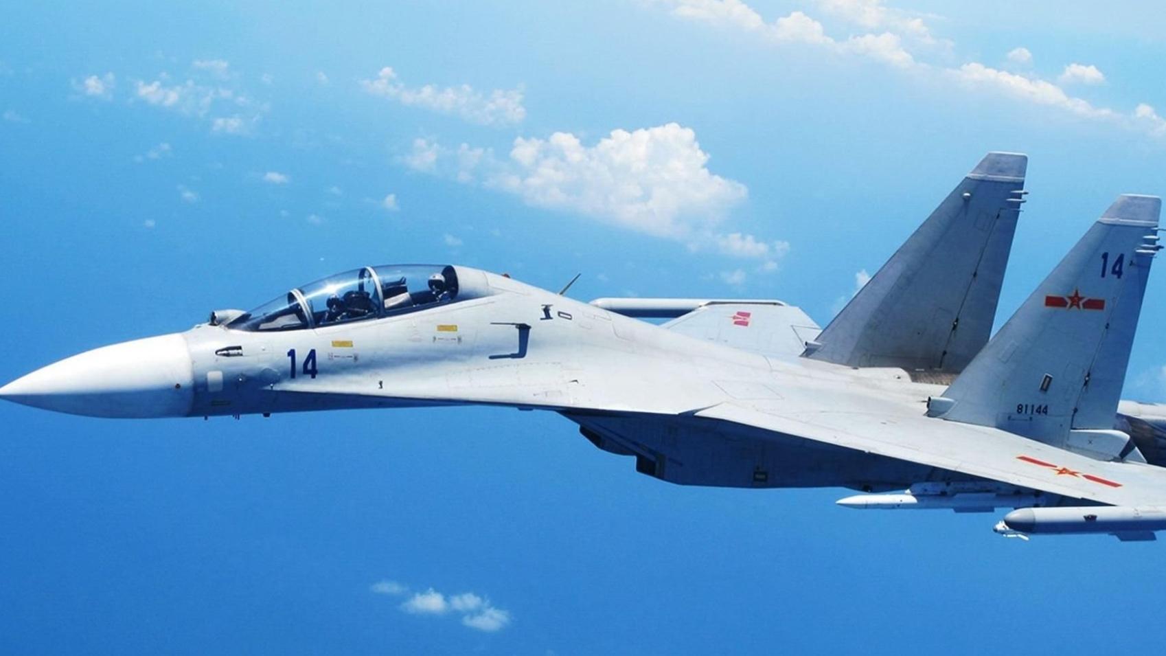 实力担当!中国海军歼-11强势拦截美日军机,性能强悍不输对手