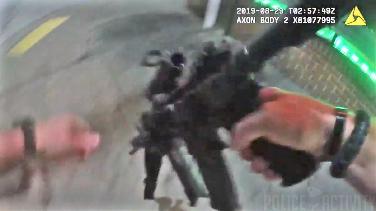 美国马里兰州巴尔的摩警方执法录像