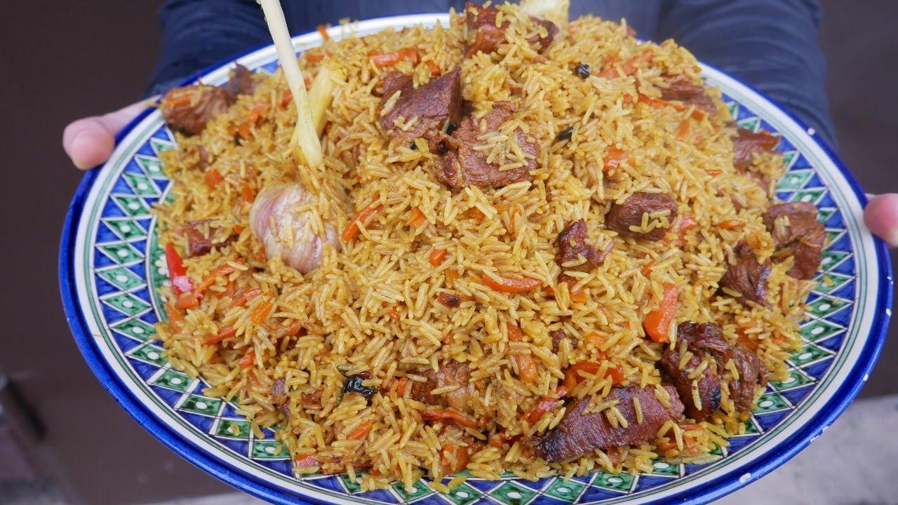 俄罗斯大叔教你做羊肉手抓饭,粒粒分明香浓不油腻,跟新疆抓饭有一拼!