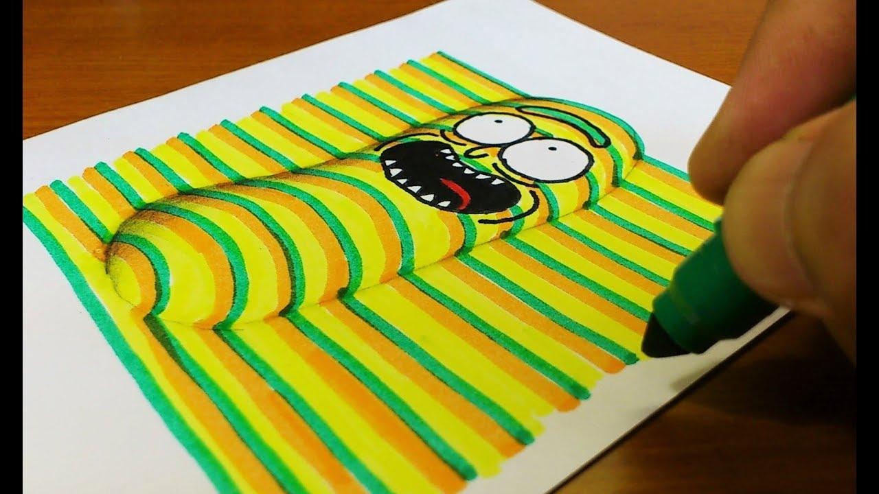 【瑞克和莫蒂】如何在一张纸上画出立体感