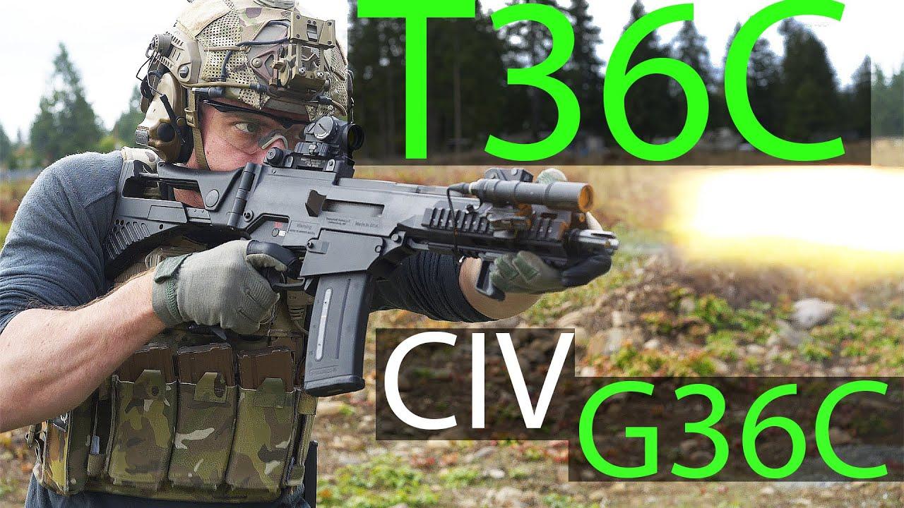 中文字幕【Garand Thumb】美德合拍T36测评(平民合法G36C)