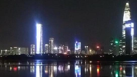 带BGM的深圳湾美景