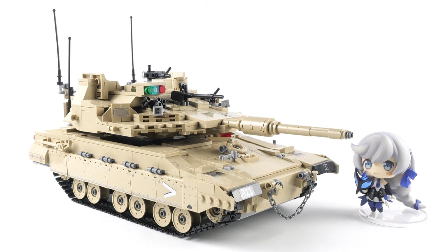 积木搭建:古迪积木梅卡瓦Mk4M坦克评测,人仔零件缺失严重