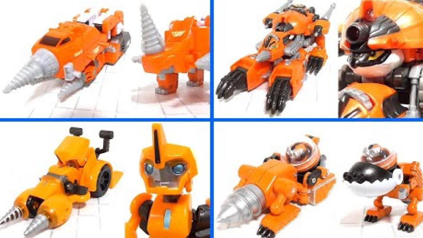 【STK】变形玩具系列  橙色 钻头  4款