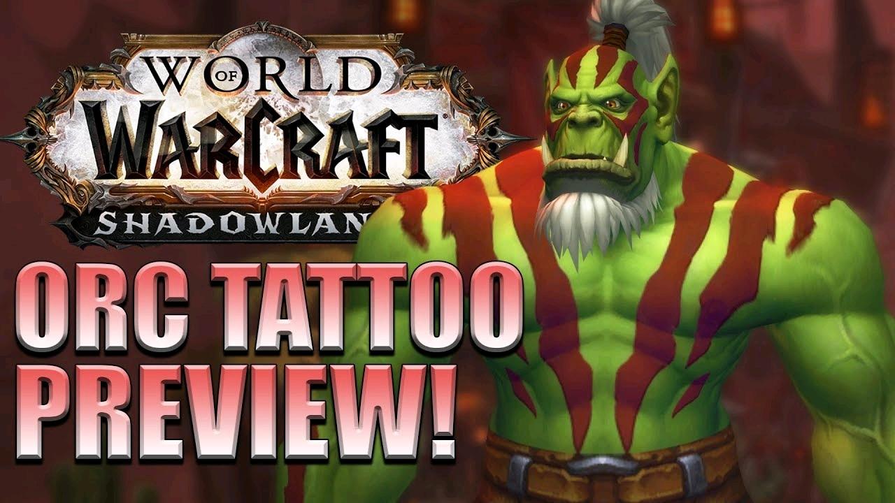 魔兽世界9.0兽人新的定制纹身颜色