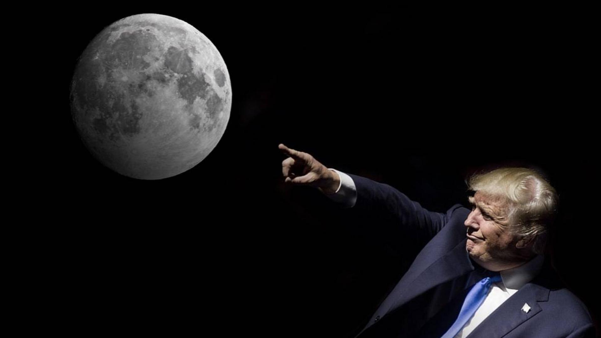 """特朗普盯上月球!起草阿尔忒弥斯协议,准备""""圈地""""采矿立规矩!"""