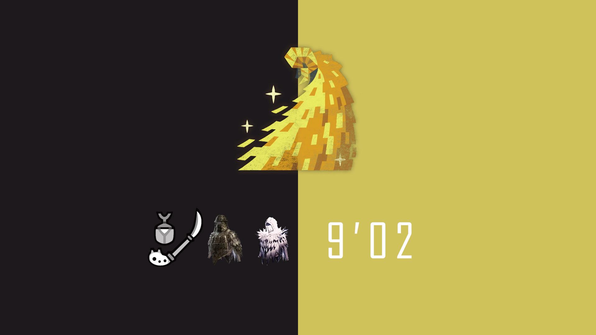 【PC怪物猎人世界冰原】无终止的淘金记 M位绚辉龙 操虫棍 9'02 落石、装衣.ver