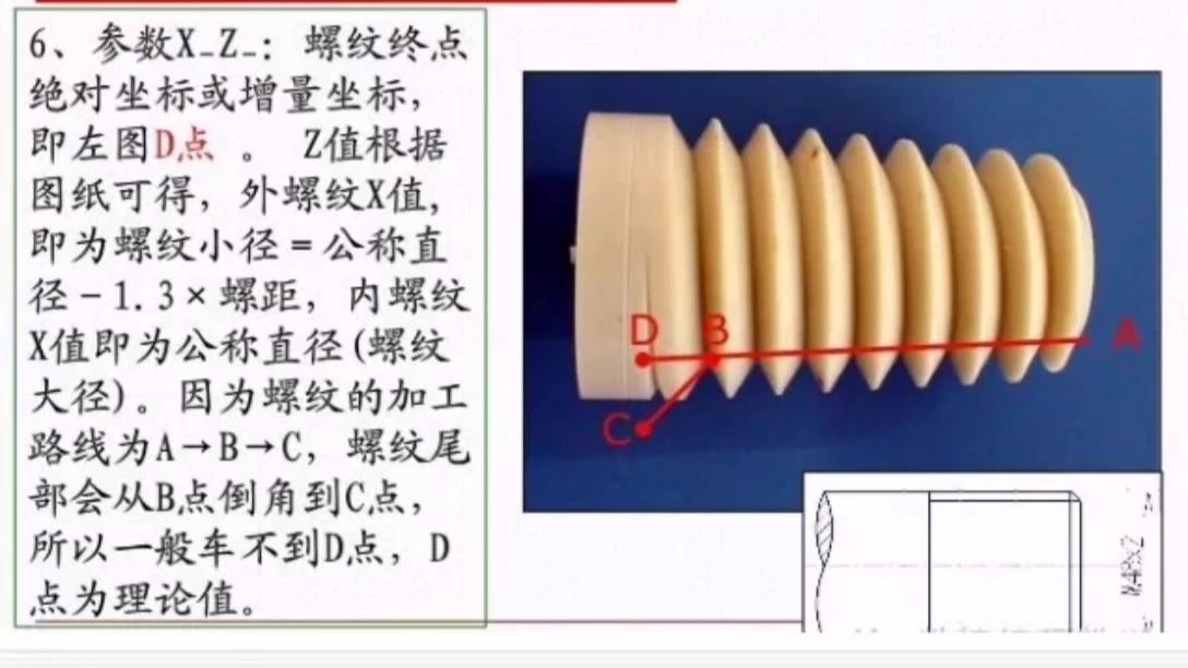 G76螺纹切削复合循环指令分享