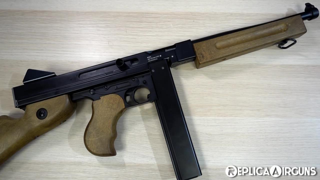 【Replica Airguns】汤姆逊M1A1冲锋枪 CO2回膛发射器开箱介绍