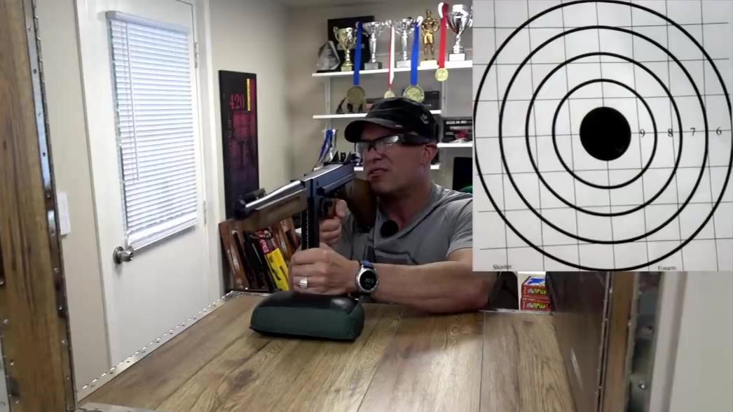 【Replica Airguns】汤姆逊M1A1冲锋枪 CO2回膛发射器射击测试