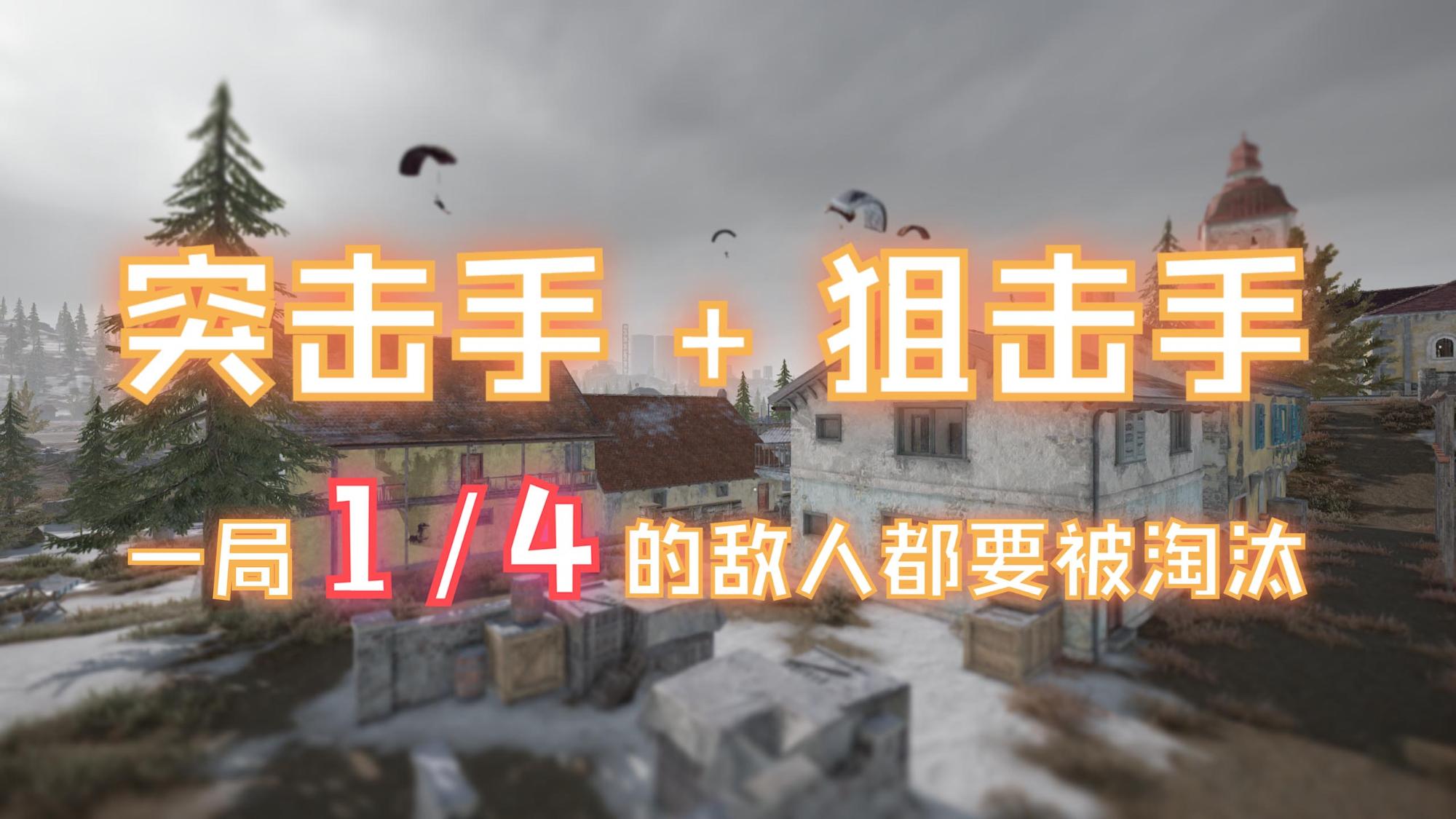 【云吃鸡】突击手+狙击手 ,一局1/4的敌人都要被淘汰
