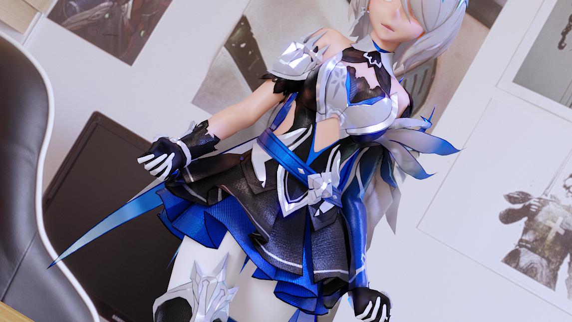 【崩坏3】丽塔-苍骑士月魂【极致手办渲染】